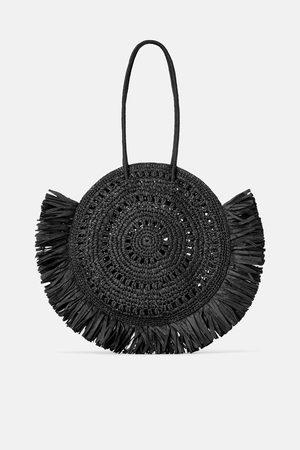 Zara Grosser shopper aus naturmaterialien