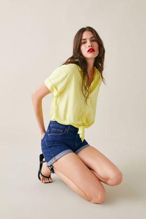 Zara Denim shorts with turn-up hems