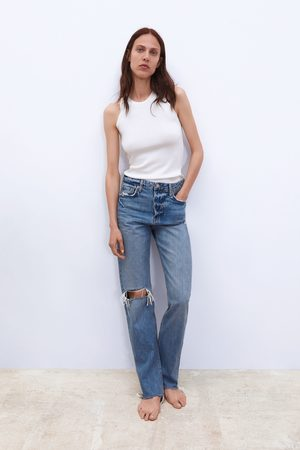 Zara Damen Straight - Jeans zw premium real straight sunrise blue