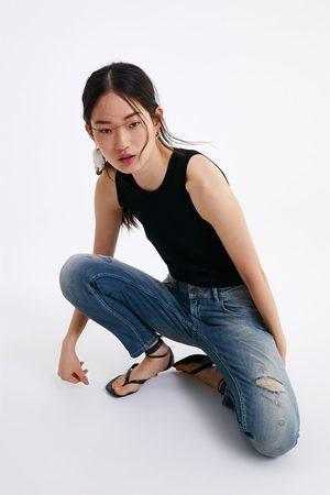 Zara Skinny-jeans z1975 mit reissverschluss am saum
