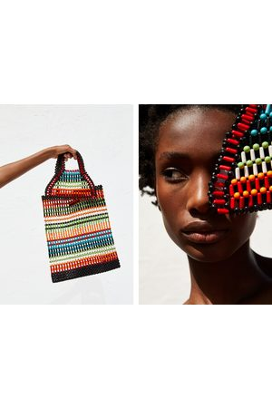 Zara Mini-shopper mit kugelstruktur
