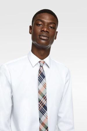 Zara Schmale jacquard-krawatte mit karomuster