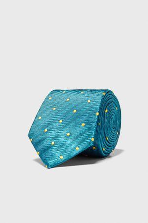 Zara Breite krawatte mit tupfen