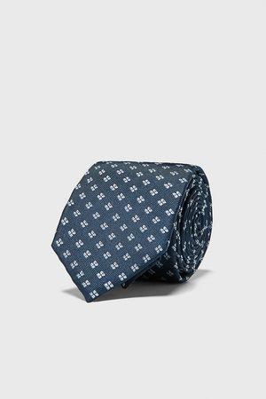 Zara Breite jacquard-krawatte mit geometrischem muster
