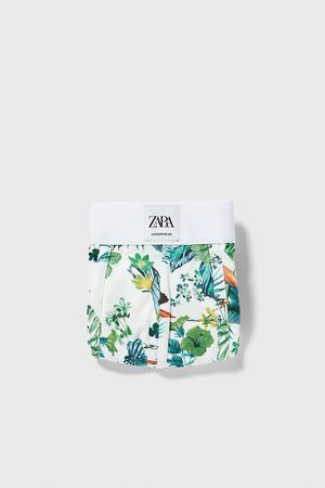 Zara Boxershorts mit blumenmuster