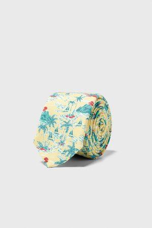 Zara Schmale jacquard-krawatte