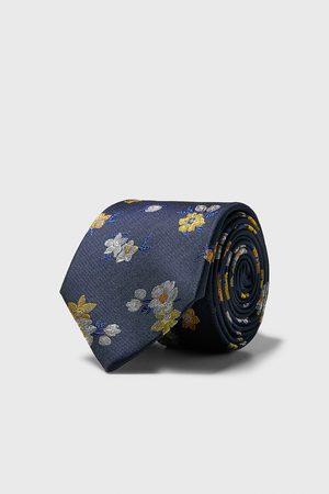 Zara Breite krawatte mit blumenmuster