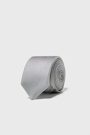 Zara Schmale krawatte mit strukturmuster