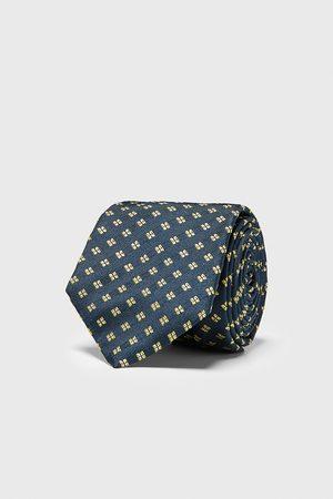 Zara Herren Krawatten - Breite jacquard-krawatte mit geometrischem muster