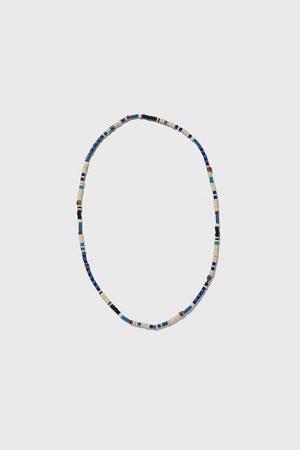 Zara Halskette mit kugeln in blau