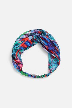 Zara Damen Haarschmuck - Turban-haarband mit print