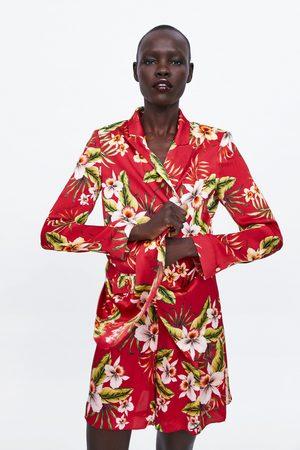Zara Damen Blazer & Sakkos - Blazer mit blumenmuster