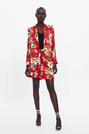 Zara Damen Shorts - Bermudashorts mit blumenmuster