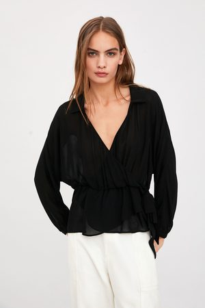 Zara Leicht transparentes hemd