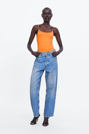 Zara Damen Bodys - Body mit trägern