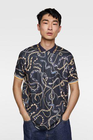Zara Poloshirt mit kettenmuster