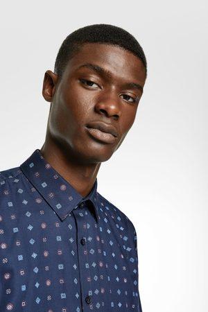 Zara Herren Freizeit - Easy-care-hemd mit geometrischem muster