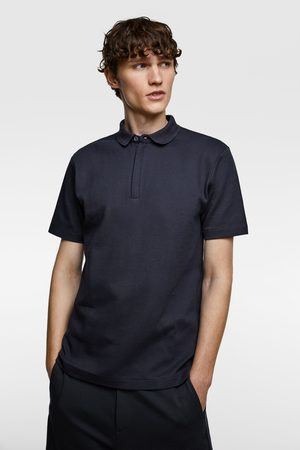 Zara Herren Poloshirts - Poloshirt mit strukturmuster premium