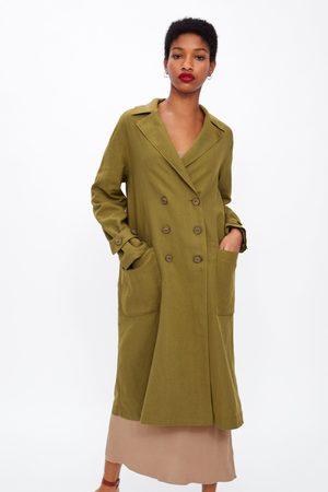 Zara Oversize-trenchcoat mit knöpfen