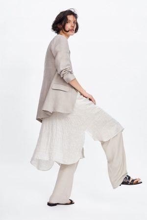 Zara Leinenblazer mit taschen