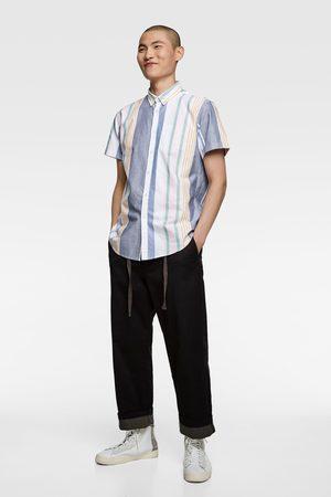 Zara Oxfordhemd mit streifen