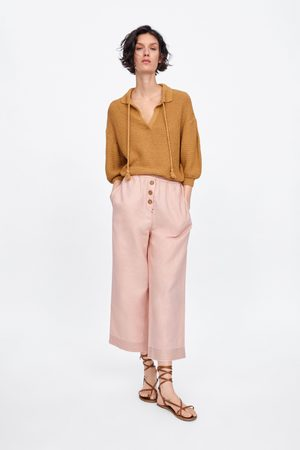 Zara Damen Culotten - Culotte-hose mit knöpfen