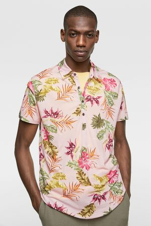 Zara Herren Poloshirts - Poloshirt mit blumenmuster