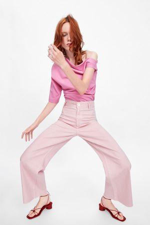 Zara Damen Straight - Jeans zw premium marine straight pink