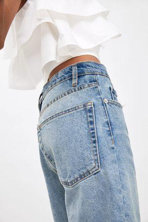 Zara Damen Shorts - Hi-rise-bermudashorts mit rissen