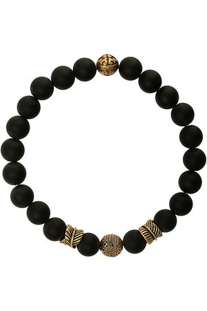 Nialaya Jewelry Engraved bead bracelet