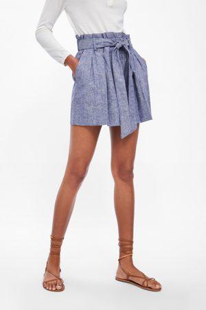 Zara Belted bermuda shorts