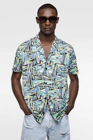Zara Herren Freizeit - Hemd mit geometrischem muster