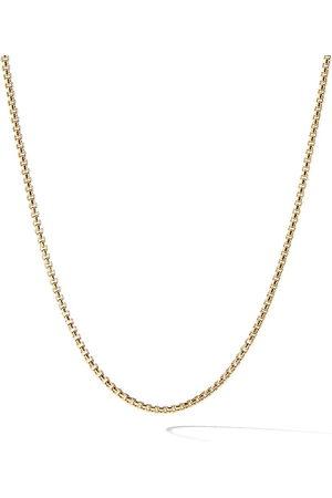David Yurman 18kt yellow Box chain necklace