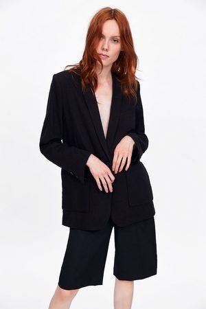 Zara Damen Blazer & Sakkos - Blazer mit taschen