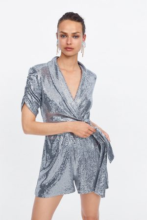 Zara Kurzer overall in metallic-optik