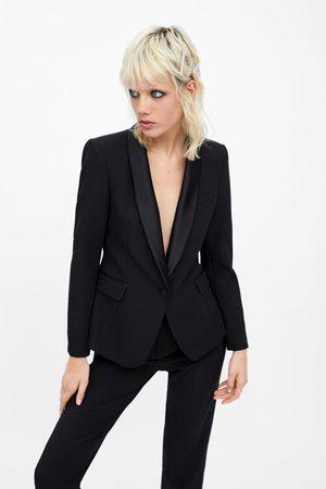 Zara Smoking-blazer mit abgesetztem revers