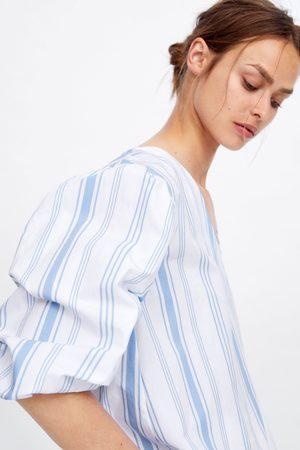 Zara Damen Blusen - Gestreifte bluse