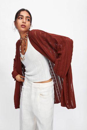 Zara Oversize-strickjacke mit strukturmuster
