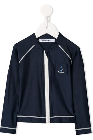 Familiar Contrast stitch track jacket