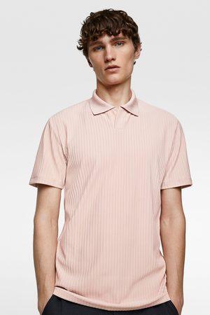 Zara Poloshirt mit rippenmuster – premium