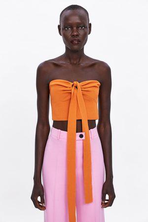 Zara Bandeau-top mit schleife