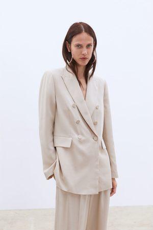 Zara Doppelreihiger blazer mit knopf