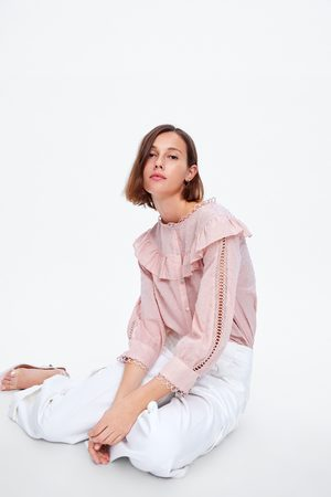 Zara Plumetis-bluse