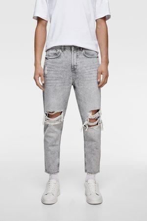 Zara Herren Slim - Slim-fit-jeans mit rissen
