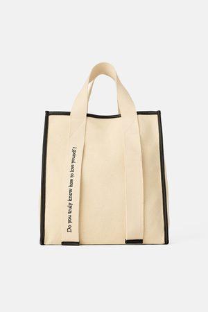 Zara Damen Shopper - Grosser shopper aus canvas join life