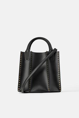 Zara Damen Shopper - Shopper mit nieten