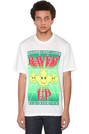 Dsquared2 Herren Shirts - Bedrucktes T-shirt Aus Baumwolljersey