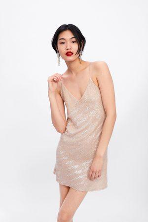 Zara Minikleid mit pailletten