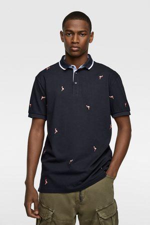 Zara Poloshirt mit stickerei