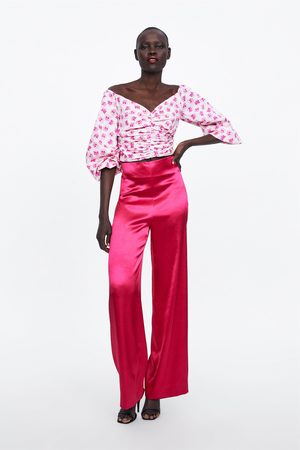 Zara Weite satinierte hose limited edition